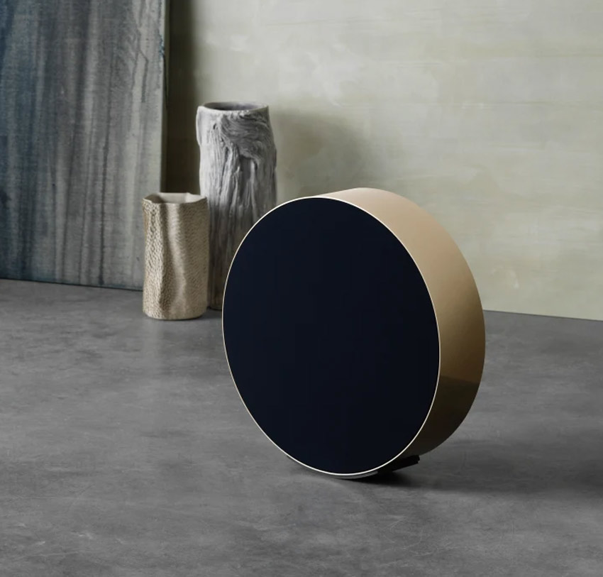 Loa B&O Beosound Edge Brass + Cover Parisian Night + Floor Stand