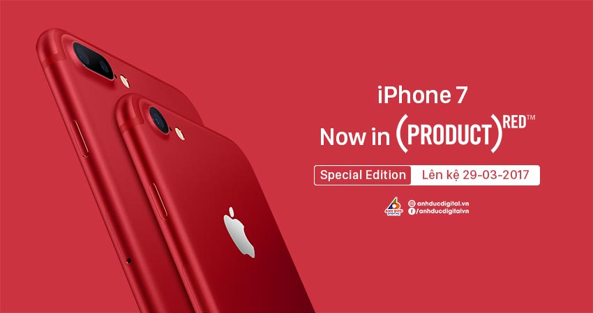 Pre Order iPhone 7 và iPhone 7 Plus Red