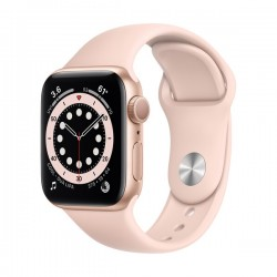 Apple Watch Series 6 (GPS, 40mm, Gold Aluminum Case, Pink Sand Sport Band)