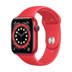 Apple Watch Series 6 (GPS + Cellular, 44mm, Red Aluminum Case, Red Sport Band)