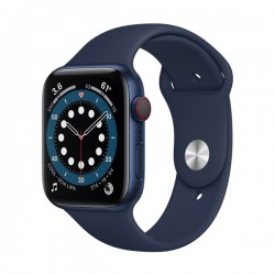 Apple Watch Series 6 (GPS + Cellular, 40mm, Blue Aluminum Case, Deep Navy Sport Band)