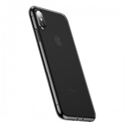 Ốp Baseus Simplicity Series for iPhone XS Max Transparent Black
