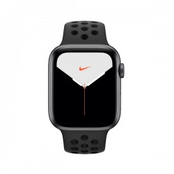 Apple Watch Nike + Series 5 (GPS, 44mm, Space Gray Aluminum Case, Black Sport Band)