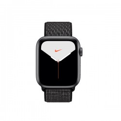 Apple Watch Nike + Series 5 (GPS, 40mm, Space Gray Aluminum Case, Black Sport Loop)