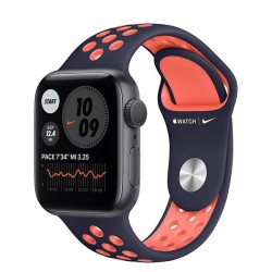 Apple Watch Nike Series 6 (GPS, 40mm, Space Gray Aluminum Case, Blue Black/Bright Mango)
