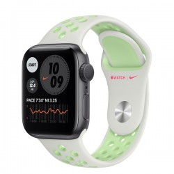 Apple Watch Nike Series 6 (GPS, 44mm, Space Gray Aluminum Case, Spruce Aura/Vapor Green)