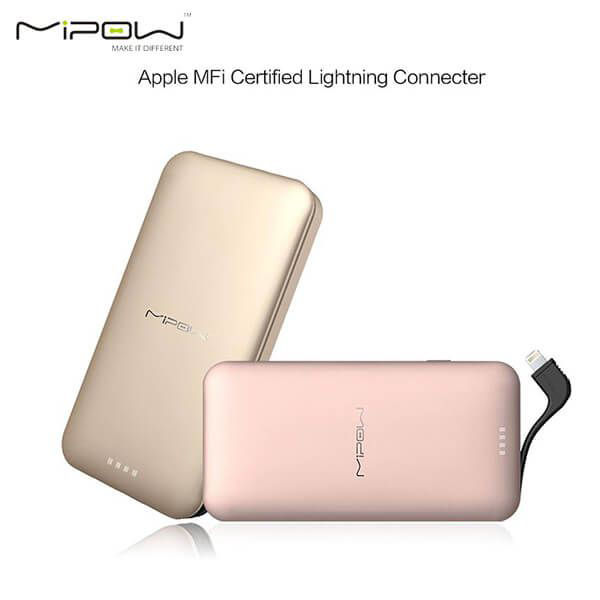 MiPow Power Cube 10000 Lightning Cable