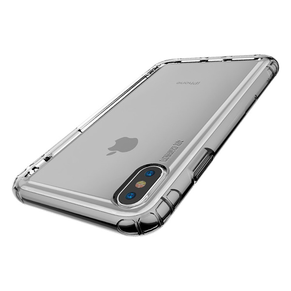 Ốp Baseus Safety Airbags for iPhone XS Max Transparent Black-3