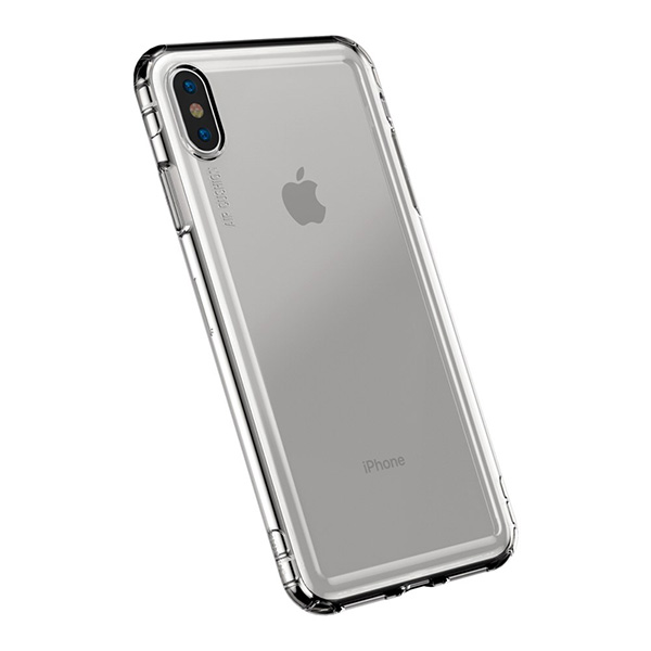 Ốp Baseus Safety Airbags for iPhone XS Max Transparent Black-1