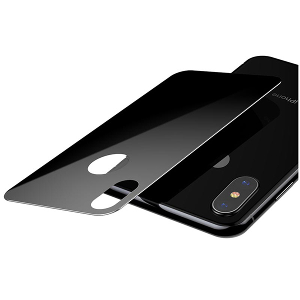 Dán chống vỡ Baseus Full coverage curved rear protector For iPhone X/XS Black-3