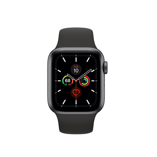 Apple Watch Series 5 (GPS, 40mm, Space Gray Aluminum Case, Sport Band)-1