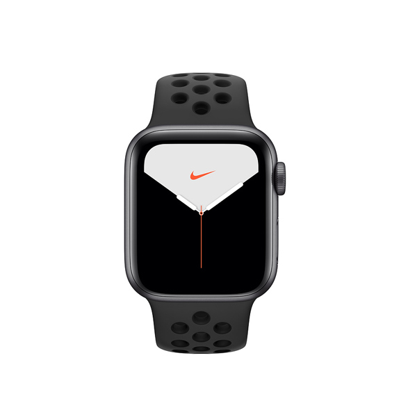 Apple Watch Nike + Series 5 (GPS, 40mm, Space Gray Aluminum Case, Black Sport Band)-1
