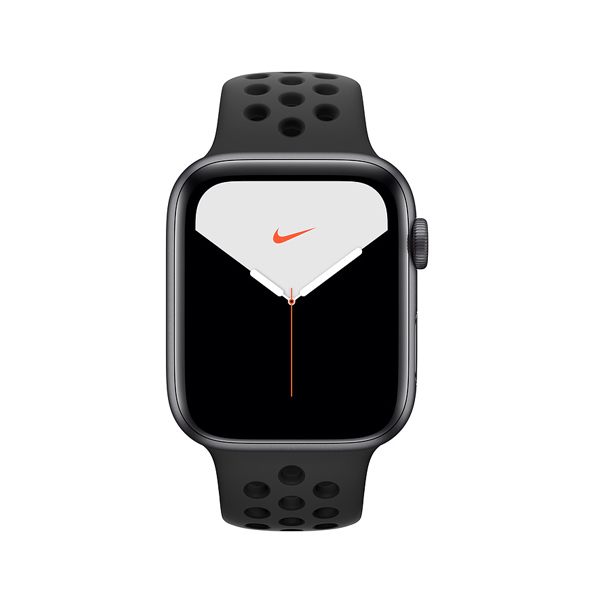 Apple Watch Nike + Series 5 (GPS, 44mm, Space Gray Aluminum Case, Black Sport Band)-1