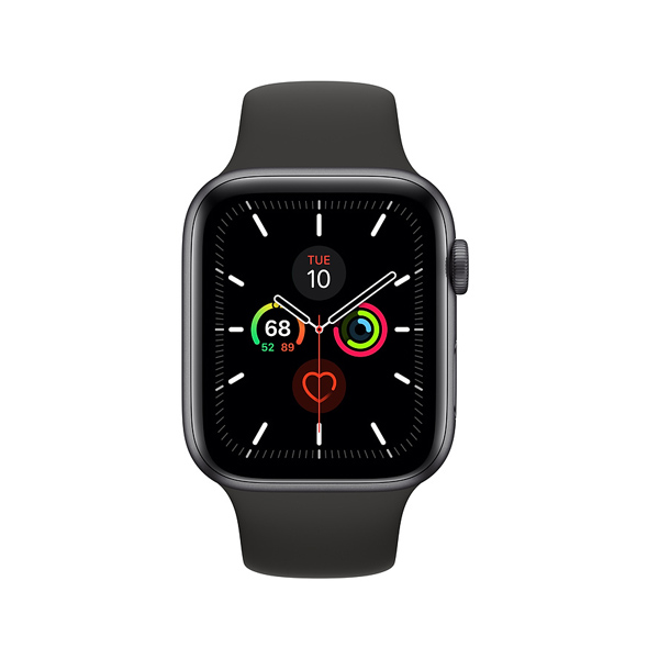 Apple Watch Series 5 (GPS, 44mm, Space Gray Aluminum Case, Sport Band)-1