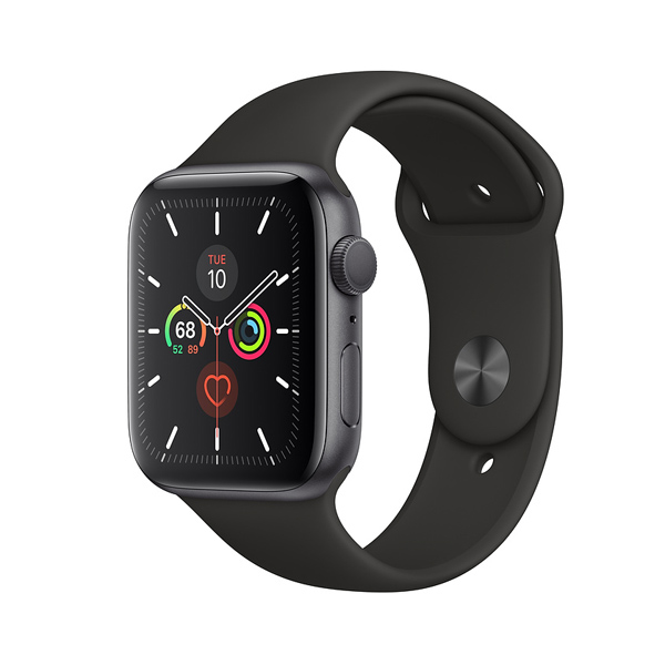 Apple Watch Series 5 (GPS, 44mm, Space Gray Aluminum Case, Sport Band)-2