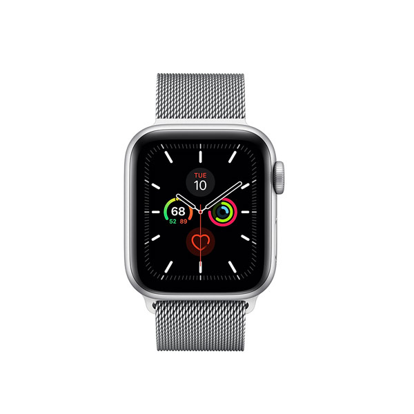 Apple Watch Series 5 (GPS, 40mm, Space Gray Aluminum Case, Stainless Steel Band)-1