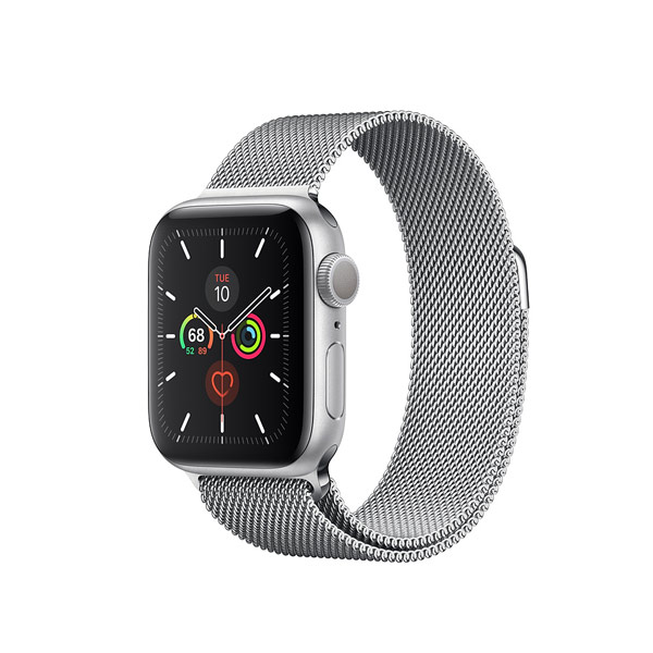 Apple Watch Series 5 (GPS, 40mm, Space Gray Aluminum Case, Stainless Steel Band)-2